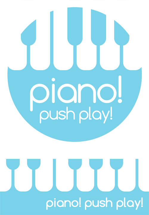 Piano! Push Play! Logos